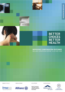 Program brochure design - Better Choices Better Health Conference