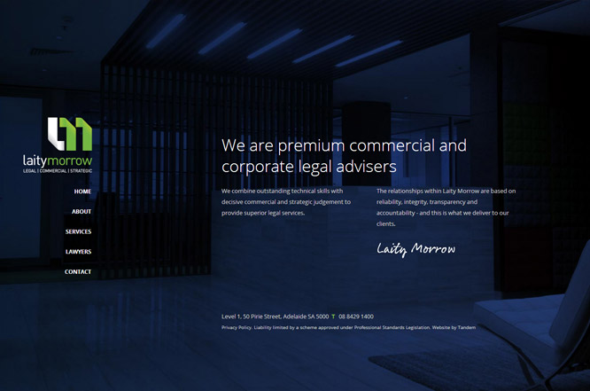 Website design - Laity Morrow Lawyers